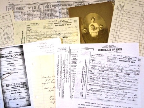 genealogy documents